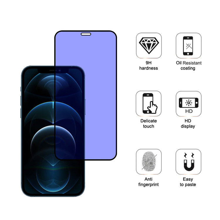Dlix anti blue light tempered glass screen protector for Apple iPhone 12 Pro