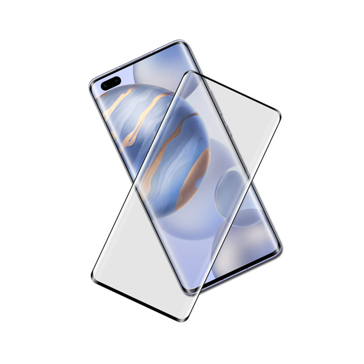Dlix 3D hot bending full glue tempered glass screen protector for Honor 30 Pro