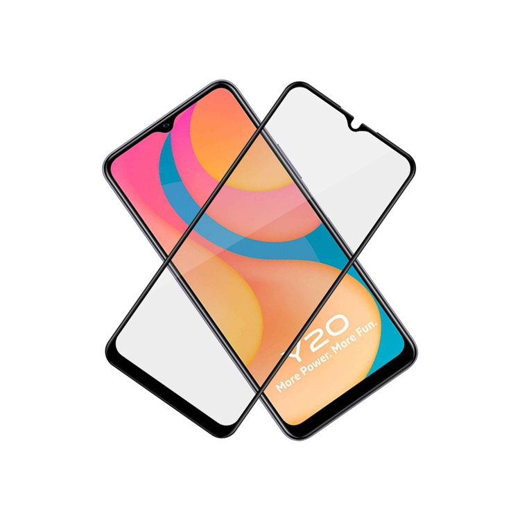 Dlix 2.5D silk print full glue tempered glass screen protector for Vivo Y20