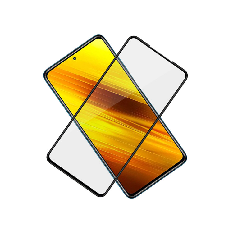 Dlix 3D hot bending edge glue tempered glass screen protector for Xiaomi Poco X3