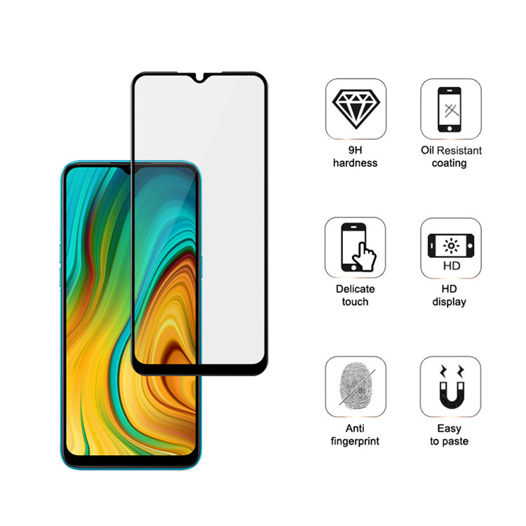 Dlix 3D hot bending edge glue tempered glass screen protector for Xiaomi Poco C3
